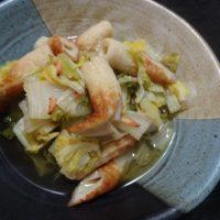 20180922白菜と竹輪の煮物