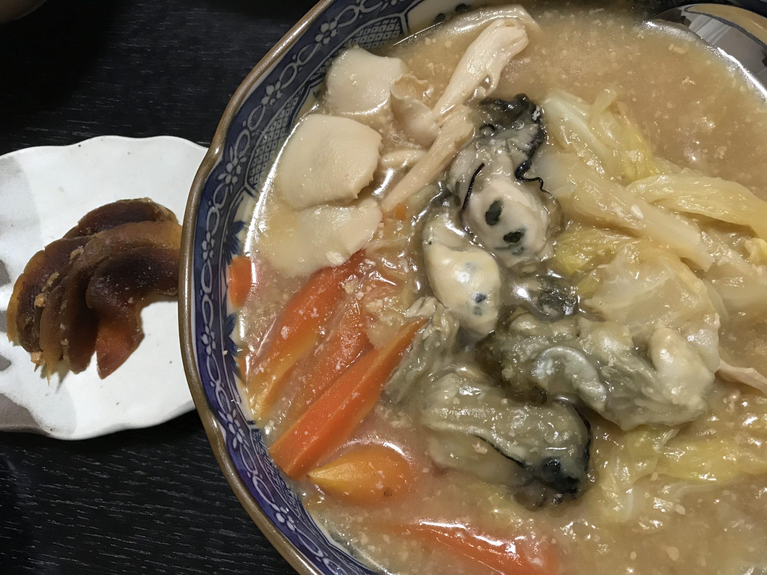 20210321牡蛎と野菜の味噌煮