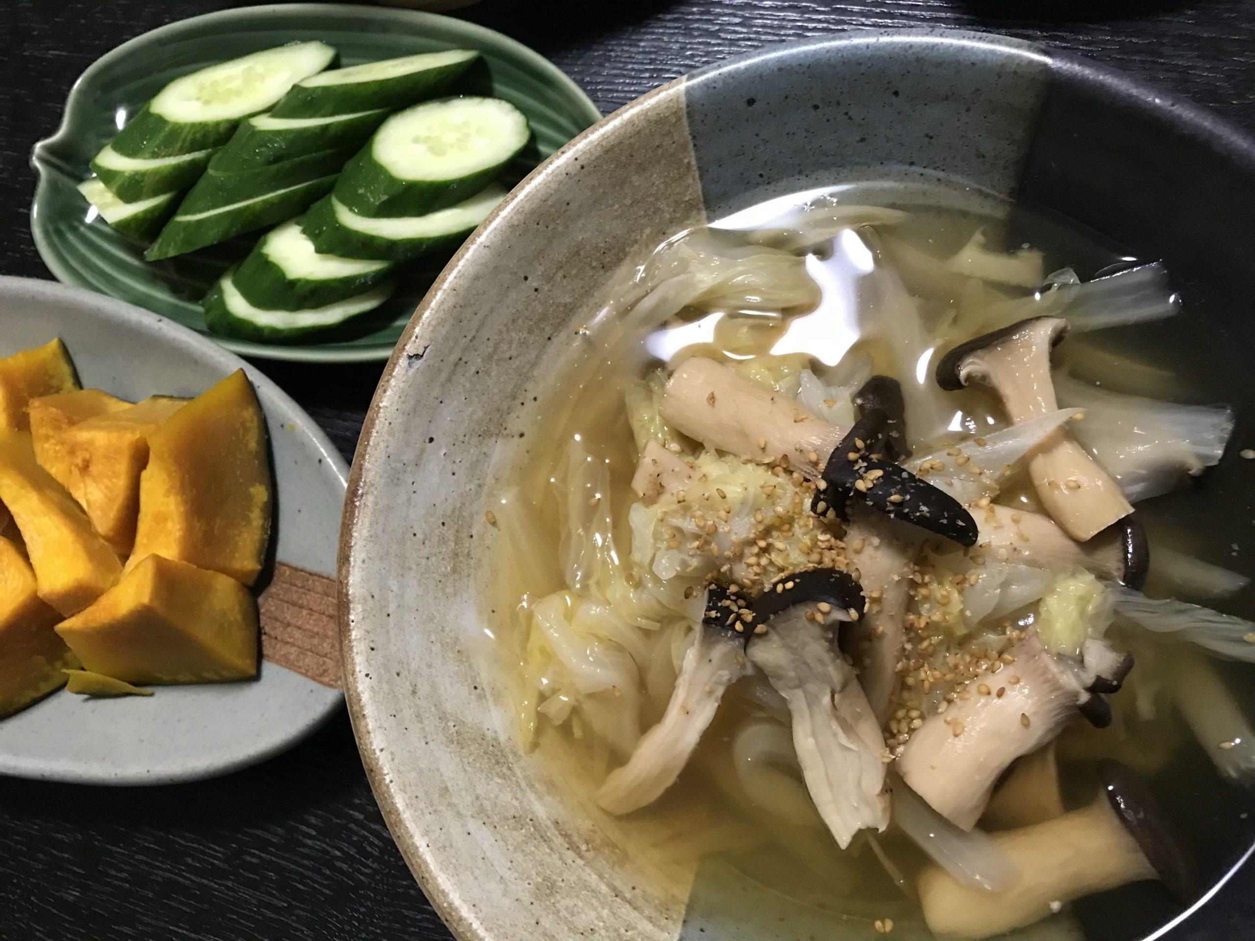 20210716白菜とエリンギの旨煮